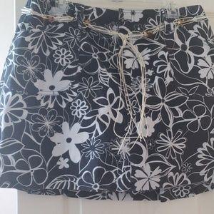 Hardly worn Skort with beaded belt